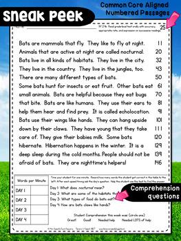 Second Grade Fluency: October Edition
