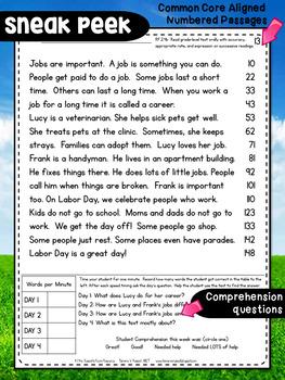 Second Grade Fluency: September Edition