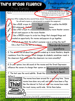Third Grade Fluency: October Edition