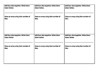 Differentiated - Fluency using Arrays - Moderate Group