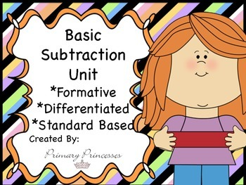 Differentiated Formative Based Subtraction Unit K-1