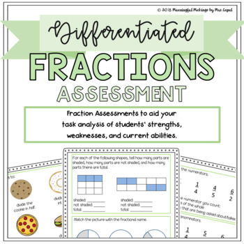 Differentiated Fraction Assessment: Pre-Test and Scoring/Grouping Guides!