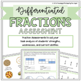 Differentiated Fraction Assessments: Pre/Post Tests and Sc