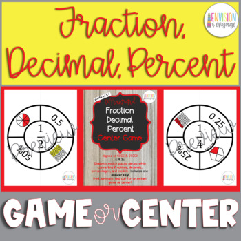 Differentiated Fraction Decimal Percent Match-A-Roo! Interactive Center or Game