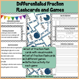 Differentiated Fraction Flashcards and Games