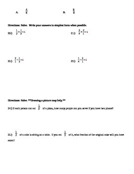 Differentiated Fraction Tests