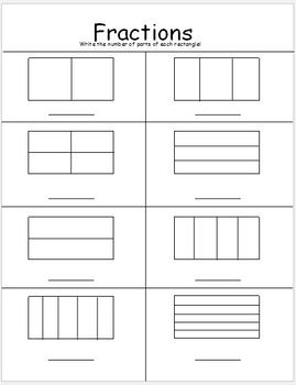 Differentiated Fraction Worksheets