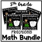 Multiply and Divide Fractions 5th Grade Worksheet Bundle