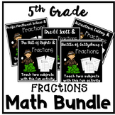 Math Review Worksheets Multiply and Divide Fractions 5th Grade Bundle