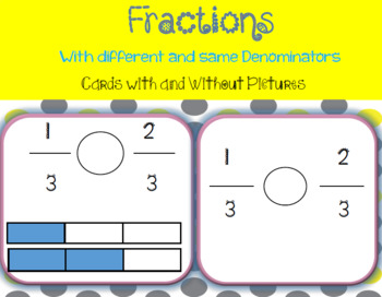 Differentiated Fractions Task Cards Comparing Fractions