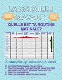 Differentiated French Battleship game -Morning routine and time- Bataille Navale