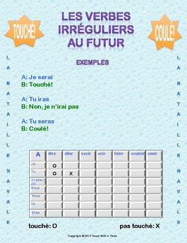 French Battleship game - futur / conditionnel (2 games)  - Bataille Navale