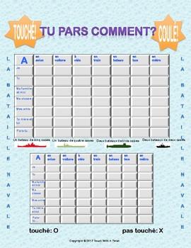 Differentiated French Battleship game - Partir + transport - Bataille Navale