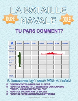 Differentiated French Battleship game - Partir + transport - Bataille Navale