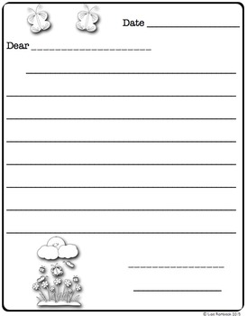 Differentiated Friendly Letter Forms SPRING Theme