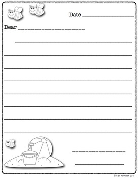 Differentiated Friendly Letter Forms SUMMER Theme