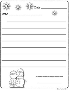 Differentiated Friendly Letter Forms WINTER theme
