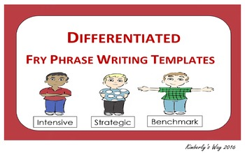 Differentiated Fry Phrase Writing Templates