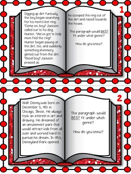 Differentiated Genre Task Cards Common Core Aligned RL/RI 4.10 & 5.10