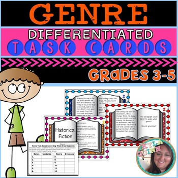 Differentiated Genre Task Cards Common Core Aligned RL/RI