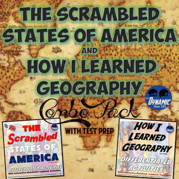 Differentiated Geography Interactive Notebook Reading Activities with Test Prep