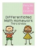 Differentiated Geometry Homework