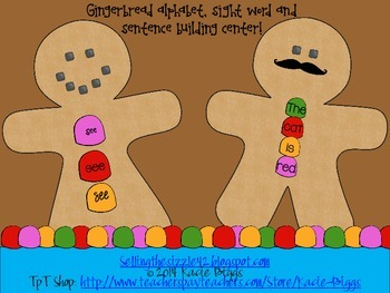 Differentiated Gingerbread Literacy Craft or Center!