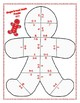 Differentiated Gingerbread Man Math Puzzle for Centers