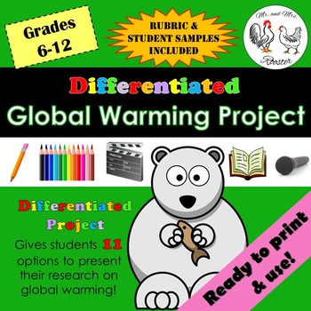 Differentiated Global Warming Project {Student Samples   Rubric}