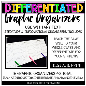 Differentiated Graphic Organizers for Grades 3-6 {16 Organ