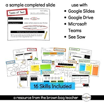 Differentiated Graphic Organizers for Listening to Reading for Distance Learning