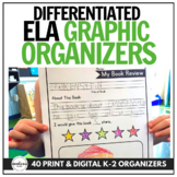 Differentiated Graphic Organizers for Listening to Reading