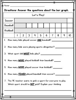 Differentiated Graphing Packet for First Grade