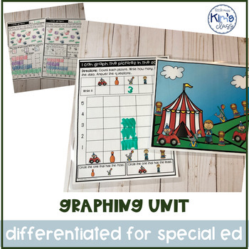 Differentiated Graphing Unit for Special Education or K-2