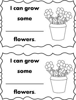 Differentiated Growing Flowers Emergent Readers