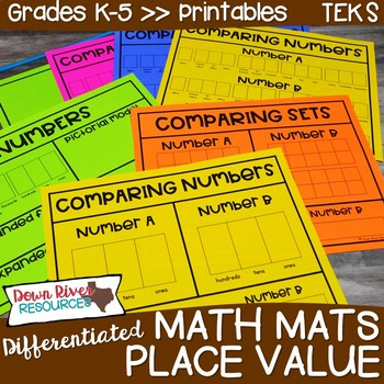 Differentiated Guided Math Mats: Place Value
