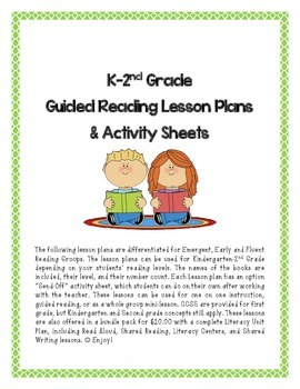 Differentiated Guided Reading Lesson Plans