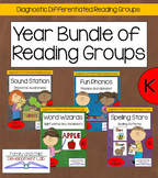 Differentiated Guided Reading Year MEGA-Bundle (Kindergarten)