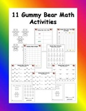 Differentiated Gummy Bears Math Activities