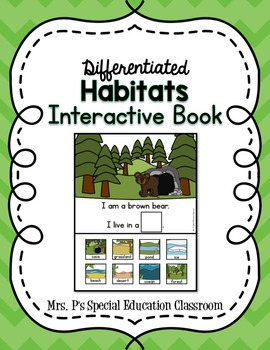 Differentiated Habitat Interactive Book