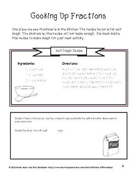 Differentiated Hands on Fraction Activities