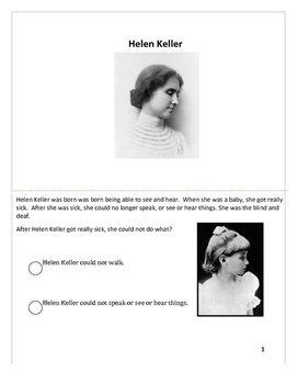Differentiated Helen Keller Story