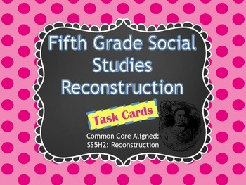 Differentiated History Task Cards {Reconstruction}