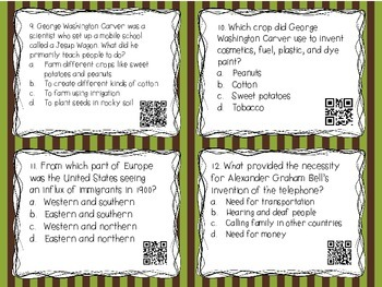 Differentiated History Task Cards {Turn of the Century}