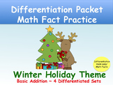 Differentiated Holiday Math Practice_Basic Addition