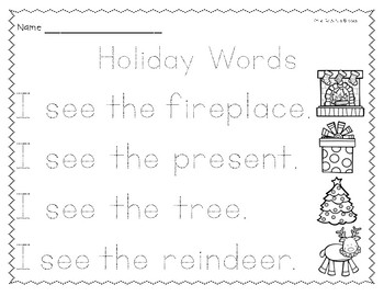 Differentiated Holiday Writing Center