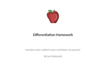 Differentiated Homework