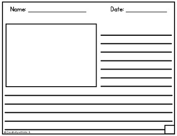 Differentiated Horizontal Writing Paper