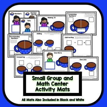 Differentiated Hot Cocoa Number Sense Math for Preschool & Kindergarten