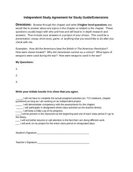 Differentiated Independent Study or Gifted Project
